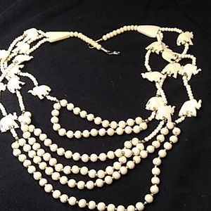 Vintage rare elephant necklace